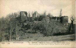 CPA - DINAN - RUINES DU CHATEAU DE LEON (IMPECCABLE) - Dinan