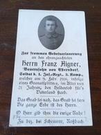 Sterbebild Wk1 Ww1 Bidprentje Avis Décès Deathcard IR1 BILLY MONTIGNY Block 5 Grab 250 Aus Esterndorf - 1914-18