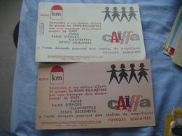 Lot De 2 Cafe Caiffa Bons Kilometres Maitre Ecole... Buvard - Café & Thé