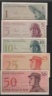 B 54 - INDONESIE Lot De 5 Billets 1964 états Neufs - Indonésie
