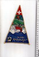 REF ENV : Fanion Flag Pennant Stendardo Touristique Ancien : AROSA Suisse Brodé - Obj. 'Souvenir De'