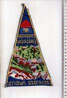 REF ENV : Fanion Flag Pennant Stendardo Touristique Ancien : SCHLOSS VADUZ Furstentum Liechtenstein Bordé - Obj. 'Souvenir De'