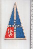 REF ENV : Fanion Flag Pennant Stendardo Touristique Ancien : St Malo Saint - Obj. 'Souvenir De'