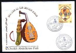 FDC/Année 2014-N°1699 :  Cheikh Abdelkrim DALI (Maitre Du Chant Andalous) - Algérie (1962-...)