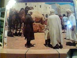 ALGERIA GHARDAIA  LE SOUK  ANIME  CAMMELLI N1970 HA7676 - Ghardaia