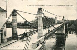 CPA - SAINT-FLORENT-LE-VIEIL - PONT SUSPENDU SUR LA LOIRE - France