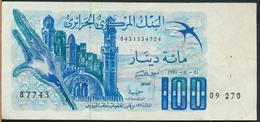 °°° ALGERIA ALGERIE - 100 DINARS 1981 °°° - Argelia