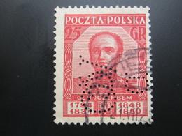 POLEN  , Perfin , Firmenlochung - 1919-1939 Republik