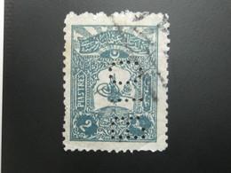 TÜRKEI  , Perfin , Firmenlochung - 1921-... Republik