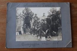 SOUVENIR DE PERTHES Campagne 1914 1915 Photo Artilleurs Avec Leur 75 - 1914-18