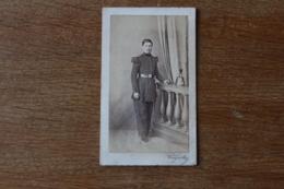 Cdv Militaire Second Empire   Arme Du Genie Sapeur Avec Son Shako  Par Laignelot Montpellier - Guerre, Militaire