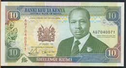 °°° KENYA - 10 SHILLINGS 1992 °°° - Kenia