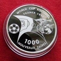 Zaire 1000 Francs 1997 Football Soccer France 1998 - Zaïre (1971-97)