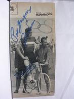 AUTOGRAPHE - DEDICACE - PHOTO DE MAGAZINE SIGNEE - GERARDIN ET ROBILLARD - CYCLISTE - Autographes