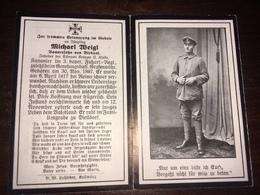 Sterbebild Wk1 Ww1 Bidprentje Avis Décès Deathcard 3. FUSS AR Grafenwöhr 6. April 1917 Verwundet REIMS Aus Birkhof - 1914-18