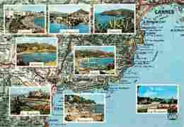 83 - Var - La Corniche D'Or - Multivues - Carte Géographique Michelin - Voir Scans Recto-Verso - Other Municipalities