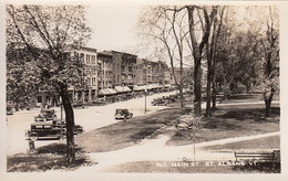 Real Photo - St. Albans Vermont VT - Main Street - Cars 1930s - Excellent Condition - See 2 Scans - United States