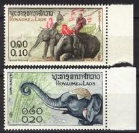 Royaume Du Laos 1958, Elephant Olifant Elefant Elefante **, MNH (not Complete) - Laos