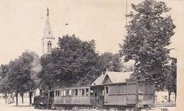 36. ISSOUDUN. CPA . LA PLACE DE VOUET ET LE TRAMWAY . 18 FÉVRIER 1924 + TEXTE - Issoudun