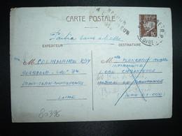 CP EP PETAIN 80c OBL.10-2 42 ST ETIENNE RP LOIRE (42) COLINMAIRE RAY 404 RADCA 246e Bie ST JEAN DE BONNEFONDS à HOSPICE - Marcophilie (Lettres)