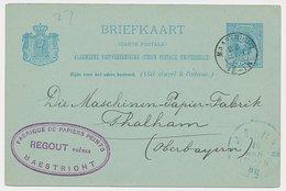Briefkaart Maastricht 1888 - Regout - Behangpapier - Ohne Zuordnung