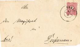 31448. Frontal Carta UCHTE (Nienburg) Baja Sajonia 1875. Alemania Reich - Allemagne