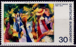 """Germany, 1974, """"Girls Under Trees"""" By Expressionist Macke, 30pf, Sc#1136, Used - [7] Federal Republic"""