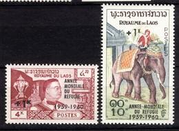 Royaume Du Laos 1958, Elephant King Sisavang Vong, With Overprint, World Refugee Year **, MNH - Laos