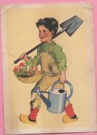 """Illustration Père Castor """"Jardinier"""" - Publicité"""