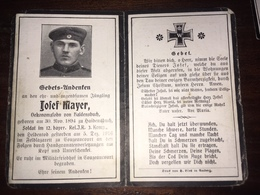 Sterbebild Wk1 Ww1 Bidprentje Avis Décès Deathcard RIR12 GOUZEAUCOURT 5. Dezember 1916 Aus Haidensbuch - 1914-18
