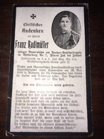 Sterbebild Wk1 Ww1 Bidprentje Avis Décès Deathcard KUK IR114 BUDWEIS Unfall Durch Unordentlichkeits Eines Kameraden Zell - 1914-18