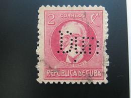 KUBA, Cuba, Firmenlochung , Perfin - Kuba