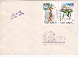 Romania , Roumanie To Moldova , 1992 , Albertville 1992 , Used Cover - 1948-.... Républiques
