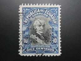 ECUADOR , Firmenlochung , Perfin - Ecuador