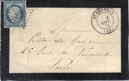 St Séverin (Charente) : Enveloppe Sans Texte, Càd 17 Et GC 3859 Sur N°60, 1875. - 1849-1876: Période Classique
