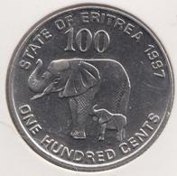 @Y@  Eritrea   100 Cents  1997  Olifant / Elephant  Unc (1005) - Erythrée