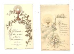 TOURNAI - Chapelle Des Dames Ursulines - 2 Souvenirs De Iére Communion De Marie Et Marthe VINCE 1891 Et 92 (D) - Communion