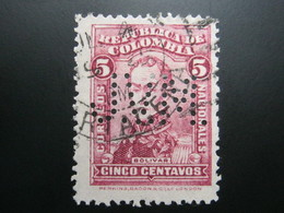 KOLUMBIEN     , Firmenlochung , Perfin - Kolumbien