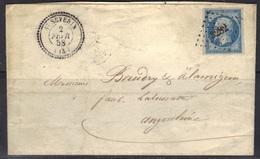 St Séverin (Charente) : LSC Sans Texte, Càd 22 Et PC 3282 Sur N°14, 1858. - 1849-1876: Période Classique