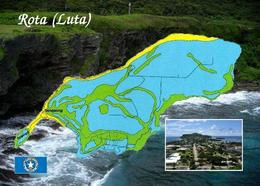 Northern Mariana Islands Rota Island Map New Postcard - Mariannes