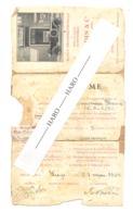 LIEGE, Ecole Professionnelle De Mécanique Automobile - Diplôme 1924 Avec Photo - J. NADIN & Cie, Rue Grètry , 74 (D) - Diplômes & Bulletins Scolaires