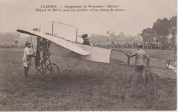 59 - CAMBRAI - DEPART DE BLERIOT POUR SON 1ER VOL AU CHAMP DE COURSES - Cambrai