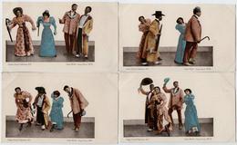 Lot De 7 CPA - Cake Walk (Negro Dance) N°1 à N°7 - Etats-Unis