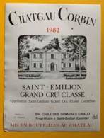 9901 - Château Corbin 1982 Saint-Emilion - Bordeaux
