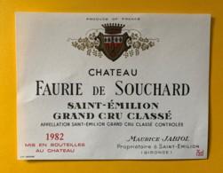 9903 - Château Faurie De Souchard 1982 Saint-Emilion - Bordeaux