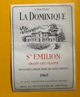 9907 - Château La Dominique 1969 Saint-Emilion - Bordeaux