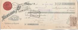 Lettre Change Illustrée 15/6/1913 BERNARD Cages Et Objets En Fil De Fer CHALONS Sur Marne - Bouvier Brive Corrèze - Lettres De Change