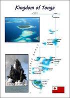 Tonga Country Map New Postcard Landkarte AK - Tonga