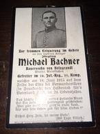 Sterbebild Wk1 Ww1 Bidprentje Avis Décès Deathcard IR16 VERMANDOVILLERS 18. Juni 1915 Aus Holzgrandl - 1914-18