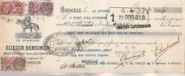 Lettre Change Illustrée 14/10/1938 ELIEZER BENSIMON Le Goumier Minoterie Semoulerie MARSEILLE - Abegy EV - Lettres De Change
